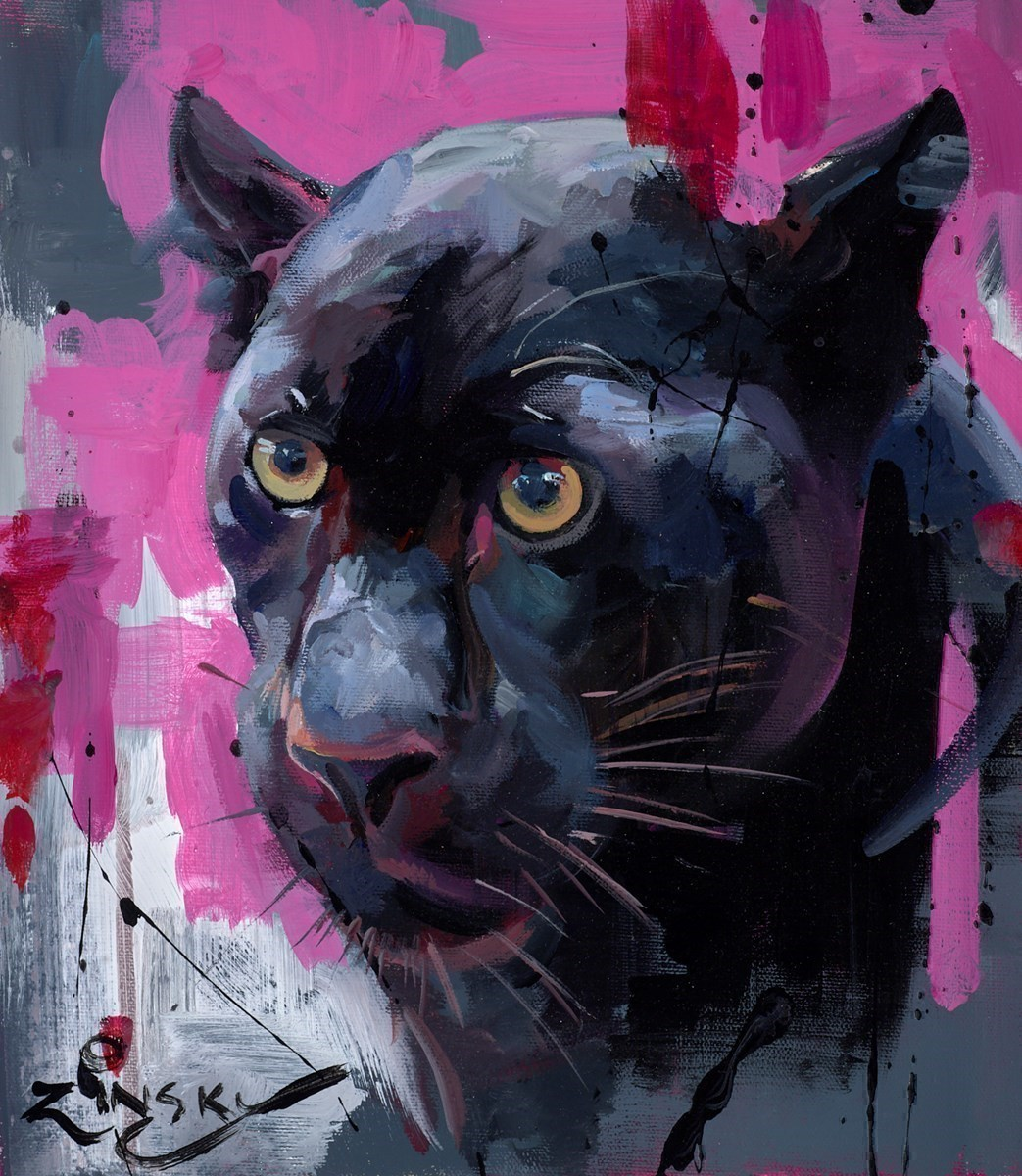 Panther by Zinsky -  sized 10x12 inches. Available from Whitewall Galleries